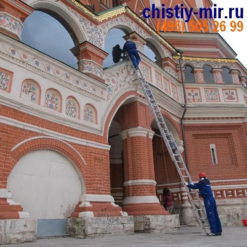 Клининг окон Храма Василия Блаженого